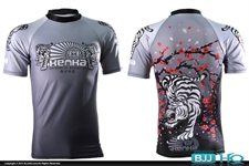 Today on BJJHQ Kenka X Meerkatsu White Tiger Rashguard - $35